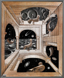 Another World Framed Canvas Print by M. C. Escher