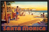 Visit Santa Monica Framed Canvas Print by Kerne Erickson
