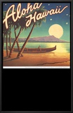 Aloha Hawaii Framed Canvas Print