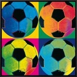 Ball Four: Soccer Framed Canvas Print