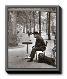 Jacques Prevert Paris, 1955 Framed Canvas Print by Robert Doisneau