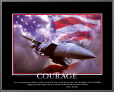 Patriotic Courage Framed Canvas Print