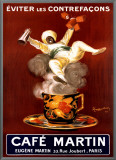 Cafe Martin 1921 Framed Canvas Print by Leonetto Cappiello