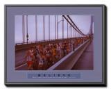 Believe: Marathon Runners Framed Canvas Print