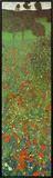 Field of Poppies Framed Canvas Print by Gustav Klimt