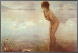 September Morn Framed Canvas Print by Paul Chabas