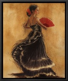 Flamenco Dancer II Framed Canvas Print by Caroline Gold