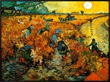 The Red Vineyard at Arles, c.1888 Framed Canvas Print
