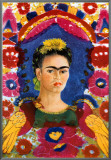 The Frame Framed Canvas Print by Frida Kahlo
