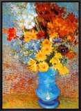 Vase of Flowers, c.1887 Framed Canvas Print