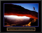 Challenge: Runner Framed Canvas Print