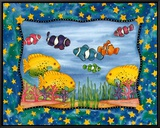 Under The Sea Framed Canvas Print by Marnie Bishop Elmer