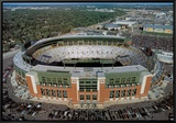 Green Bay Packers - New Lambeau Field Framed Canvas Print by Mike Smith