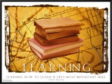 Learning Framed Canvas Print
