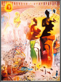 Hallucinogenic Toreador Framed Canvas Print by Salvador Dalí