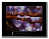 Teamwork Framed Canvas Print