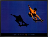 No Limits Skateboarder Framed Canvas Print