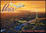 Over Paris Framed Canvas Print by Kerne Erickson