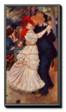 Dance at Bougival Framed Canvas Print by Pierre-Auguste Renoir
