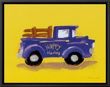 Happy Hauling Framed Canvas Print by Anthony Morrow