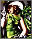 Jeune Fille Vert Framed Canvas Print by Tamara de Lempicka