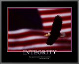 Patriotic Integrity Framed Canvas Print