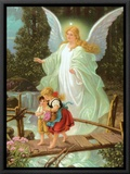 Heilige Schutzengel Framed Canvas Print