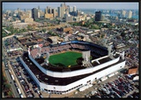Detroit - Tiger Stadium Final Game Framed Canvas Print by Mike Smith