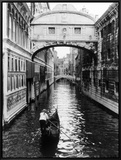 Venice Canal Framed Canvas Print by Cyndi Schick