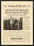 Four Minute Mile Framed Canvas Print