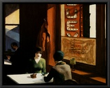 Chop Suey Framed Canvas Print by Edward Hopper