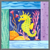 Seafriends - Seahorse Framed Canvas Print by Paul Brent