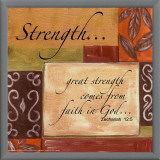 Words to Live By, Strength Framed Canvas Print by Debbie DeWitt