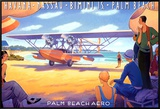 Palm Beach Aero Framed Canvas Print by Kerne Erickson