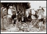 Tour de France, Drinkers Framed Canvas Print