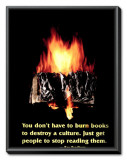 Burning Book Framed Canvas Print