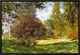 The Park at Monceau Framed Canvas Print by Claude Monet