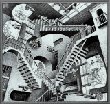 Relativity Framed Canvas Print by M. C. Escher