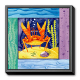 Seafriends - Crab Framed Canvas Print by Paul Brent