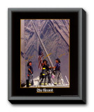 Firemen Raising The Flag At Wtc Framed Canvas Print by Thomas E. Franklin
