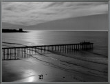 The Scripps Pier Framed Canvas Print by Ansel Adams