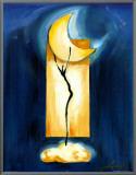 Moon Dance Framed Canvas Print by Alfred Gockel