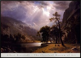 Half Dome, Yosemite Valley Framed Canvas Print by Albert Bierstadt