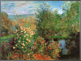 Stiller Winkel im Garten von Montgeron Framed Canvas Print by Claude Monet