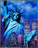 New York, Statue of Liberty Framed Canvas Print