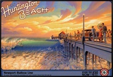 Huntington Beach Framed Canvas Print by Kerne Erickson