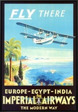 Imperial Airways Framed Canvas Print