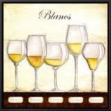 Les Vins Blancs Framed Canvas Print by Andrea Laliberte
