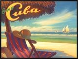 Escape to Cuba Framed Canvas Print by Kerne Erickson