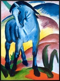 Blue Horse I Framed Canvas Print by Franz Marc